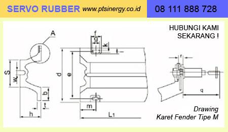drawing karet fender Tipe M 08111888728